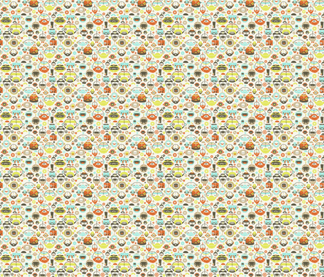 Moustache Robots fabric by kukubee on Spoonflower - custom fabric