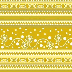 Aztec ZipperTangle Yellow