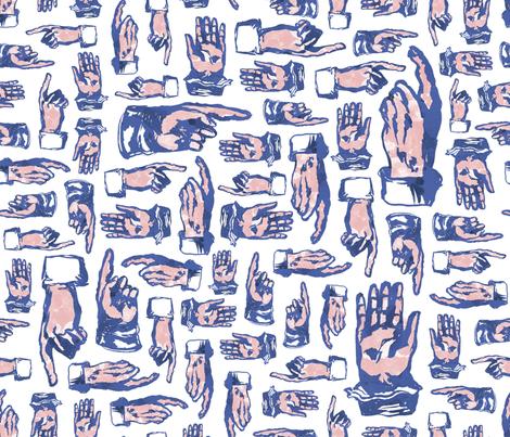 Hands_Fabric_Pattern_LargeSmall fabric by elizabethdoyle on Spoonflower - custom fabric