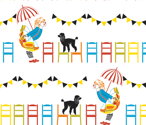 Little Clown -Enlaged version fabric by newmomdesigns on Spoonflower - custom fabric