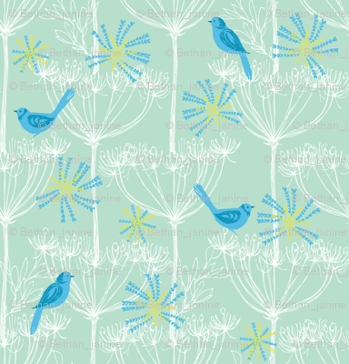 Blue birds mini