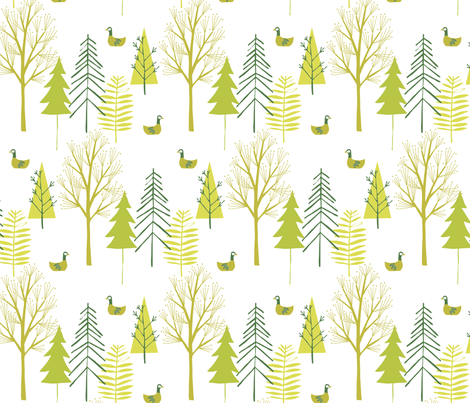 Forest fabric by bethan_janine on Spoonflower - custom fabric