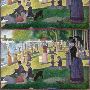 A Sunday Afternoon with a Blue Box - Georges Seurat - 1884 (small)