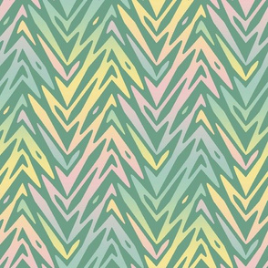 rainbow feather zigzag