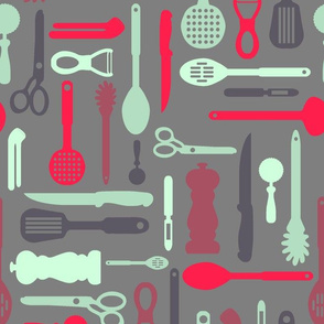 Utensils Spoonflower Contest