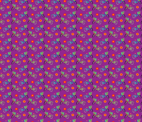 FlowerBike-02 fabric by deesignor on Spoonflower - custom fabric