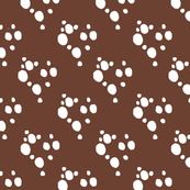 Choc Chip Repeat - White on Brown