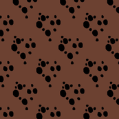 Choc Chip Repeat - Black on Brown