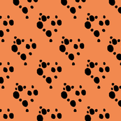 Choc Chip Repeat - Black on Orange