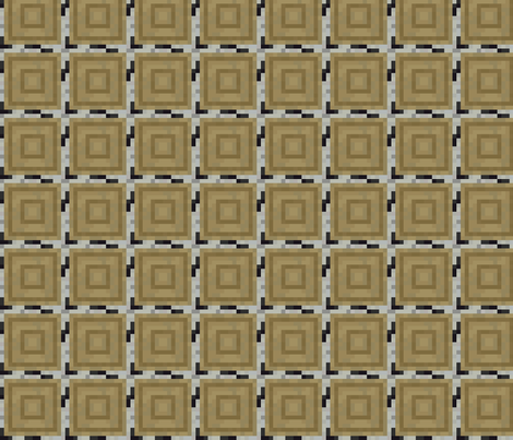 Pixelated Wooden Log Rings - Birch - Medium fabric by elsielevelsup on Spoonflower - custom fabric
