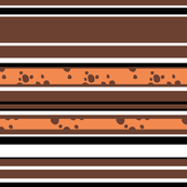 Stripes - Brown, White and Orange Choc Chip – Varied Widths