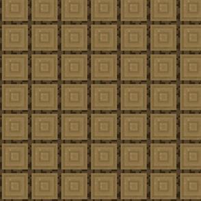 Pixelated Wooden Log Rings - Oak - Small