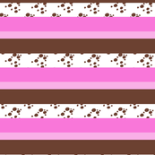 Stripes - Choc Chip Ice Cream - Pink and Brown