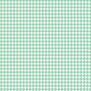 Houndstooth* (Green Stamps)    geometric midcentury modern 60s 1960s sixties mod jadeite pastel
