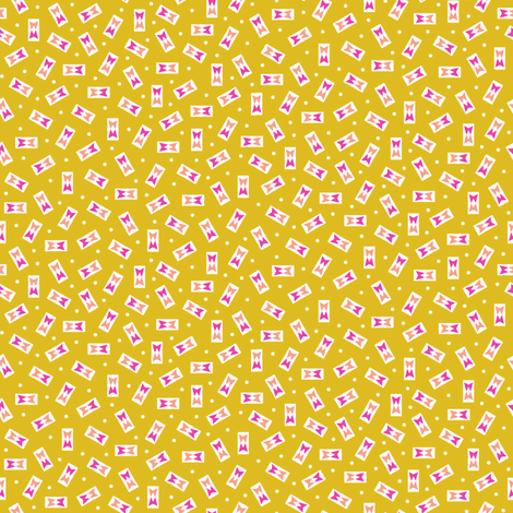 Ferndale (Gold) fabric by pennycandy on Spoonflower - custom fabric