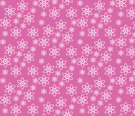 Atomic Science (Pink) fabric by robyriker on Spoonflower - custom fabric