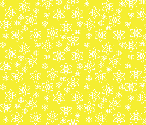 Atomic Science (Yellow) fabric by robyriker on Spoonflower - custom fabric