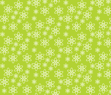Atomic Science (Lime Green) fabric by robyriker on Spoonflower - custom fabric