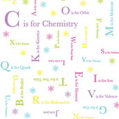 C is for Chemistry (Rainbow Pastel)