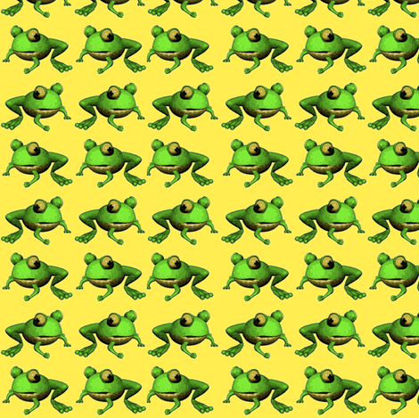 Tiny Frogs fabric by whimzwhirled on Spoonflower - custom fabric