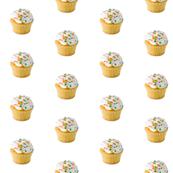 flat sprinkles cupcake