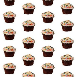 chocolate sprinkle cupcake