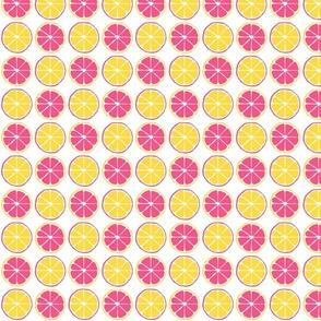 Pink and Yellow Lemon Slice