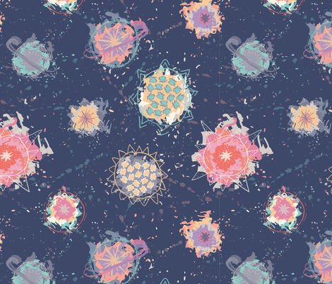 Planetary Doodles fabric by camillafellas on Spoonflower - custom fabric