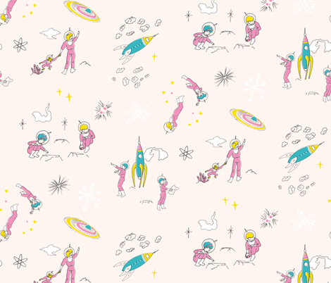 Cosmic Field Trip fabric by taffyandtwine on Spoonflower - custom fabric