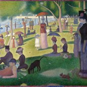 A_sunday_with_a_blue_box_-_georges_seurat_-_1884_shop_thumb