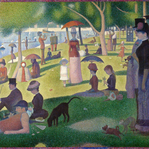 A Sunday Afternoon with a Blue Box - Georges Seurat - 1884 (large)