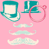 Top Hat Moustache Monocle