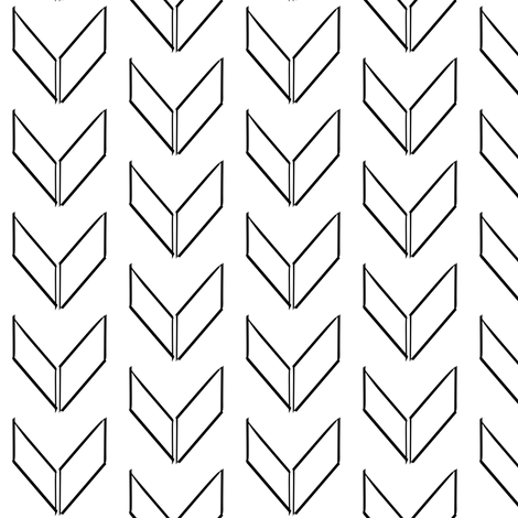 sketched black and white chevron fabric by coramaedesign on Spoonflower - custom fabric