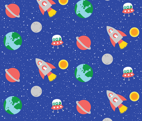 Cosmic_Voyage fabric by elenamontes on Spoonflower - custom fabric