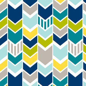 Custom Blue Green Chevron (Large)