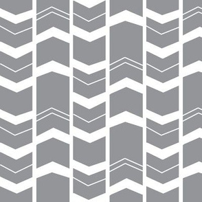 Mod Grey Chevron - Grey Herringbone