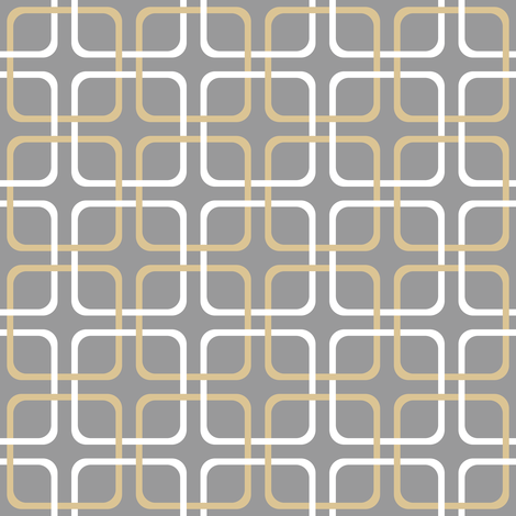 Squircle Lock ~  Coquille and White on Pewter fabric by peacoquettedesigns on Spoonflower - custom fabric