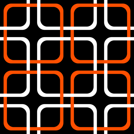 Squircle Lock ~ Marquise and White on Blackmail ~ Halloween fabric by peacoquettedesigns on Spoonflower - custom fabric