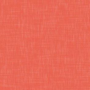 Bright Coral Solid Linen