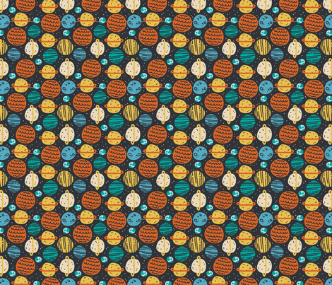 Planetary fabric by ellodesign on Spoonflower - custom fabric