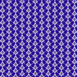Blue Small Masonic Square and Compass