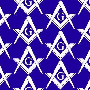 Blue Large Masonic Square and Compass