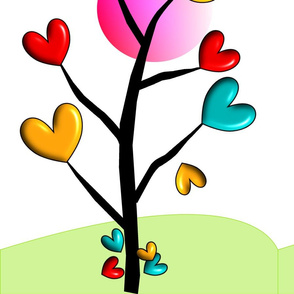 Whimsical Hearts Tree