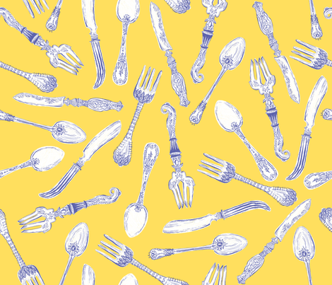 Utensils fabric by elizabethdoyle on Spoonflower - custom fabric