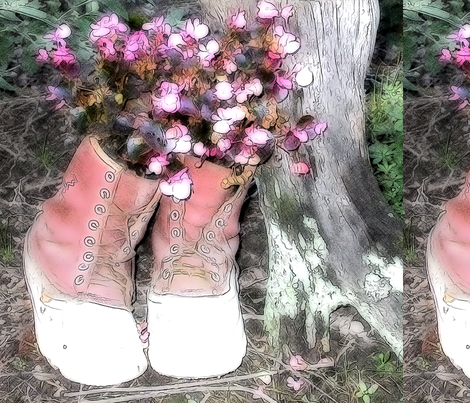 Boots fabric by koalalady on Spoonflower - custom fabric