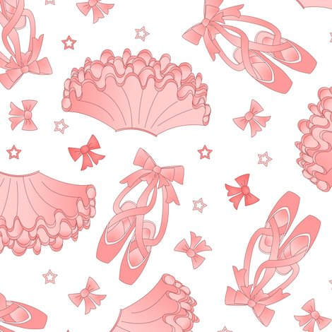 Ballet star pattern fabric jannasalak spoonflower for Star design fabric