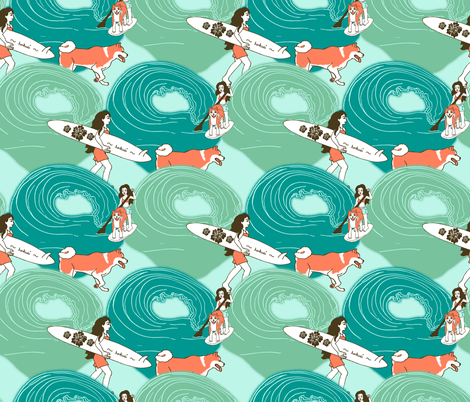 Blossurfing fabric by hakuai on Spoonflower - custom fabric
