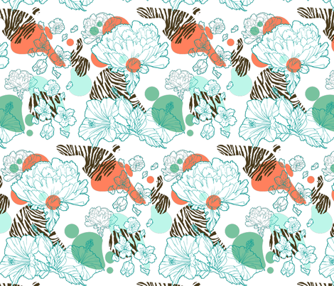 Surfing into the Jungle fabric by moonstruck on Spoonflower - custom fabric