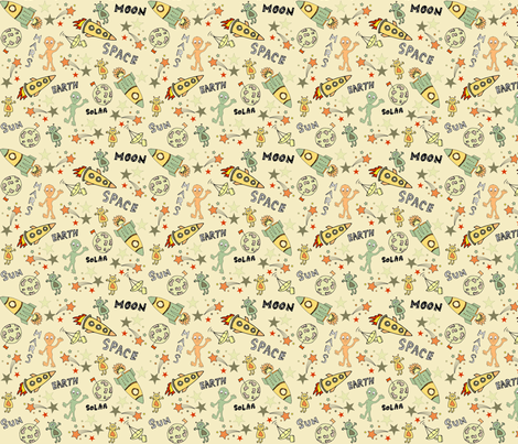 Rocket2 fabric by lesley_young on Spoonflower - custom fabric