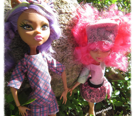 Cut&Sew Doll clothing Monster high pink plaid dress